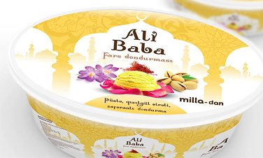 Ali-Baba Ice Cream Packaging Design