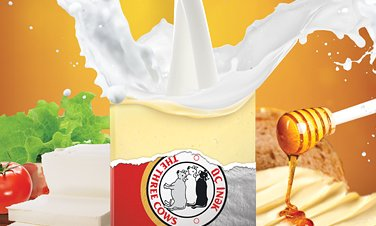 Poster The Three Cows Butter